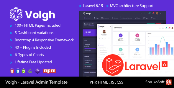 [Free Download] Volgh – Laravel Admin Template (Nulled) [Latest Version]