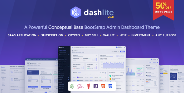 [Free Download] DashLite – Bootstrap Responsive Admin Dashboard Template (Nulled) [Latest Version]