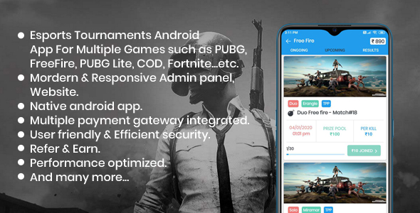 [Free Download] BattleMania – Tournament App with Website & Admin Panel for PUBG / Free Fire / COD / PUBG Lite (Nulled) [Latest Version]