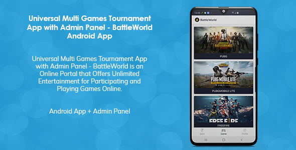 [Free Download] Universal Multi Games Tournament App with Admin Panel (Nulled) [Latest Version]