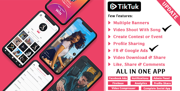 [Free Download] Tiktuk – Video Social Media | Tiktok Clon (Nulled) [Latest Version]
