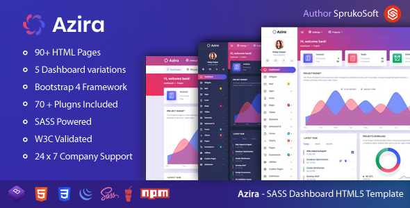 [Free Download] Azira –  SAAS Admin Dashboard HTML Template (Nulled) [Latest Version]