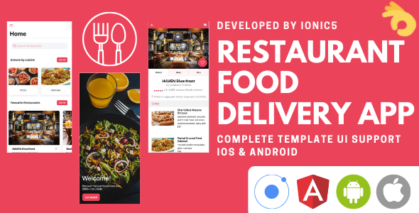 [Free Download] Restaurant and Food Delivery Ecommerce App (Ionic5 & Capacitor) Template UI (Nulled) [Latest Version]