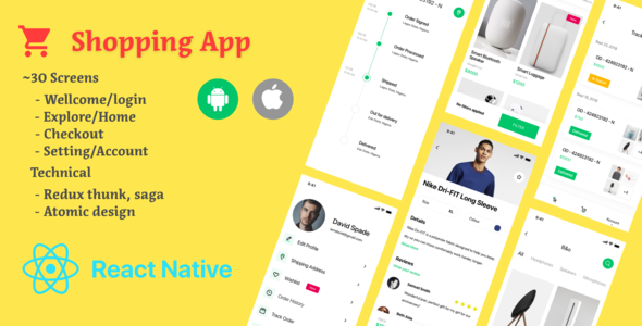[Free Download] Shopping Cart Template | React Native (Nulled) [Latest Version]