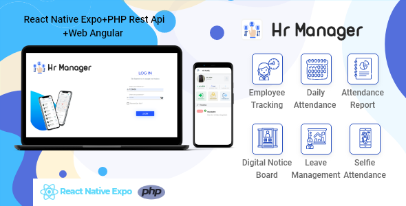 [Free Download] HR Manager PHP Version (Expo Mobile App + Angular Web admin panel + PHP Api) (Nulled) [Latest Version]