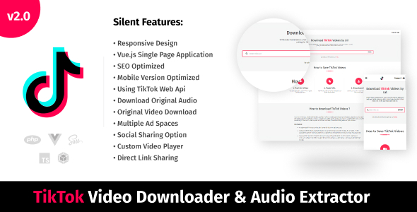 [Free Download] TikTok Video Downloader & Audio Extractor (Nulled) [Latest Version]