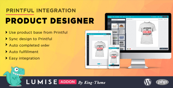 [Free Download] Printful Integration – Addon for Lumise Product Designer (Nulled) [Latest Version]