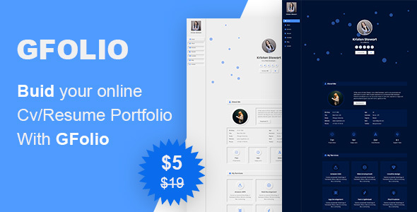 [Free Download] GFolio – CV / Resume (Nulled) [Latest Version]