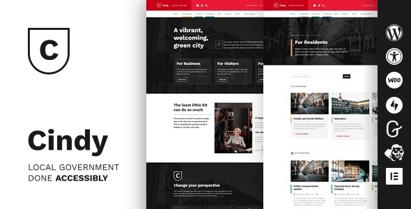 [Free Download] Cindy – Accessible Local Government WordPress Theme (Nulled) [Latest Version]