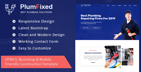 [Free Download] PlumFixed – HTML Template (Nulled) [Latest Version]