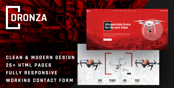 [Free Download] Dronza | Drone Aerial Photography HTML5 Template (Nulled) [Latest Version]