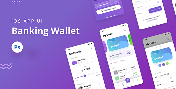 [Free Download] Banking Wallet iOS App UI PSD (Nulled) [Latest Version]