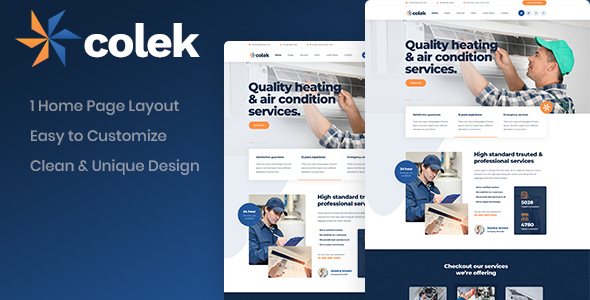 [Free Download] Colek – Air Conditioning Repair PSD Template (Nulled) [Latest Version]