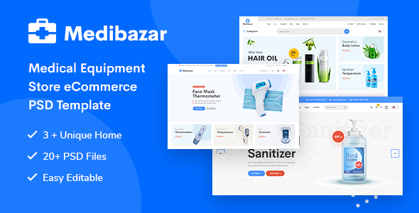 [Free Download] Medibazar – Medical Equipment Store eCommerce PSD Template (Nulled) [Latest Version]