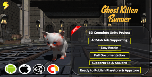 [Free Download] Ghost Kitten Runner Complete Project – Admob (Nulled) [Latest Version]