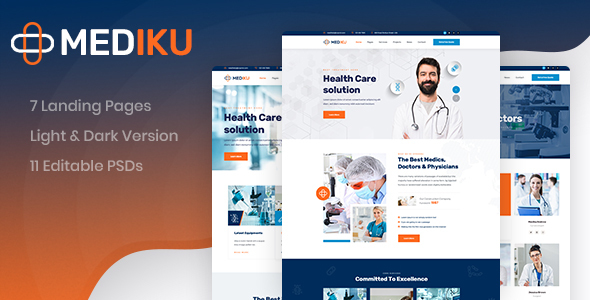 [Free Download] Mediku – Healthcare PSD Template (Nulled) [Latest Version]