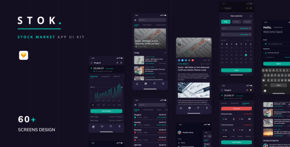 [Free Download] Stok – Stock Market App UI Kit (Nulled) [Latest Version]