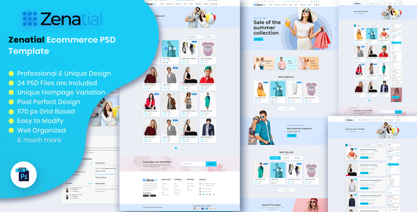 [Free Download] Zenatial – Ecommerce PSD Template (Nulled) [Latest Version]