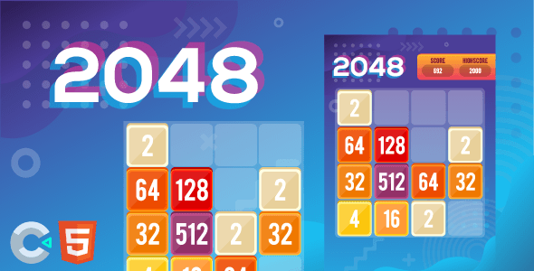 [Free Download] 2048 – HTML5 Puzzle Game (Construct 3) (Nulled) [Latest Version]