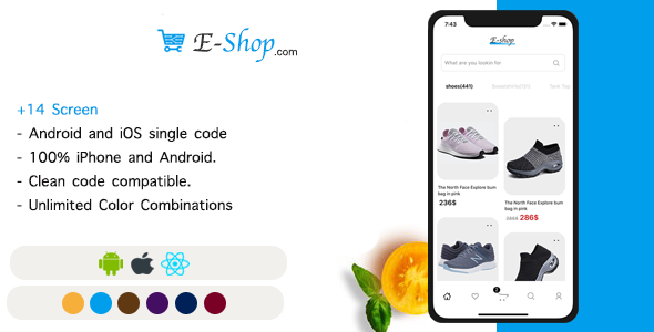 [Free Download] E-Shop – React Native Ecommerce template (Nulled) [Latest Version]