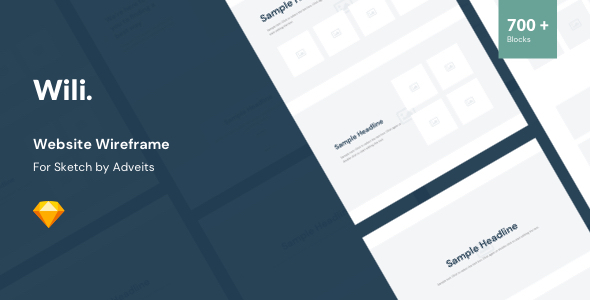 [Free Download] Wili – Website Wireframe for Sketch (Nulled) [Latest Version]