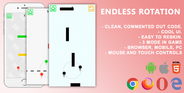[Free Download] Endless Rotation. Mobile, Html5 Game. .c3p (Construct 3) (Nulled) [Latest Version]