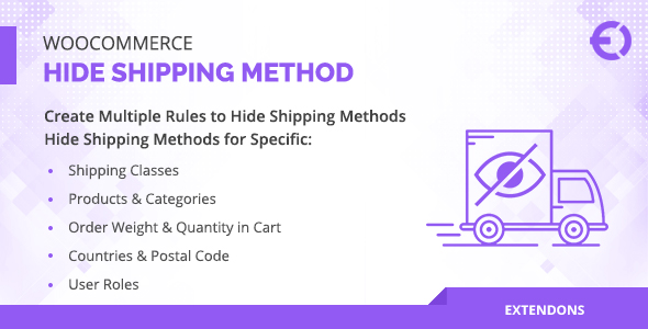 [Free Download] WooCommerce Hide Shipping Method for Product, Category & More (Nulled) [Latest Version]