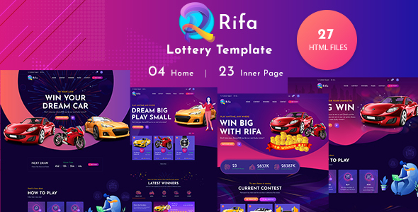 [Free Download] Rifa – Online Lotto & Lottery HTML Template (Nulled) [Latest Version]