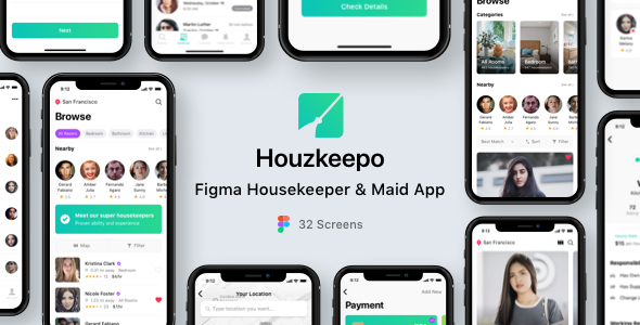 [Free Download] Houzkeepo – Figma Housekeeper & Maid App (Nulled) [Latest Version]
