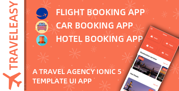 [Free Download] TravelEasy – A Travel Agency Theme UI App By Ionic 5 (Car, Hotel, Flight Booking) (Nulled) [Latest Version]