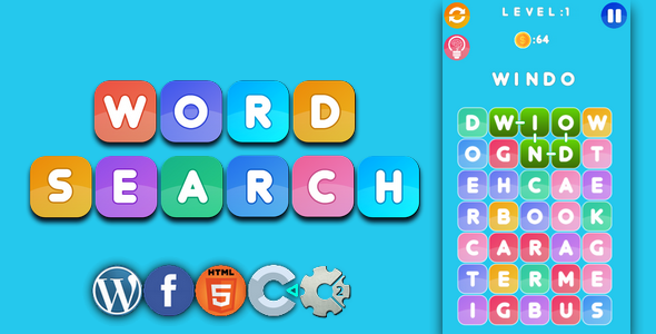 [Free Download] Word search – html5 game, capx (Nulled) [Latest Version]