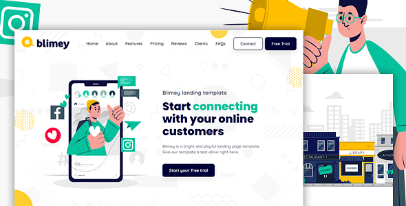 [Free Download] BLIMEY – Multi-Purpose HTML Landing Page Template for Business and Startups (Nulled) [Latest Version]