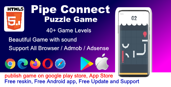 [Free Download] HTML5 Pipe Connecting Puzzle Game ( Android / iOS / Computer ) (Nulled) [Latest Version]
