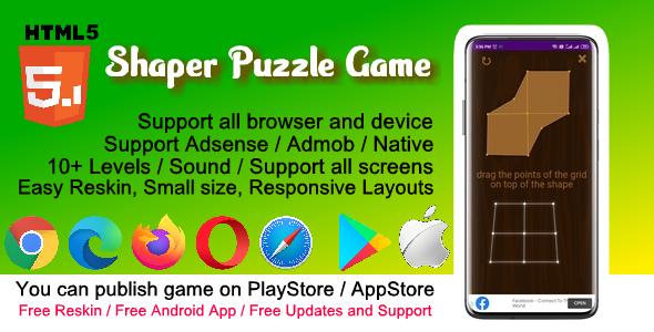 [Free Download] HTML5 Shaper Puzzle Game ( Support Android , iOS , Computer ) (Nulled) [Latest Version]
