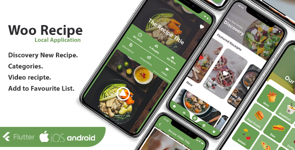 [Free Download] Recipe Flutter Application – ios and android (Nulled) [Latest Version]