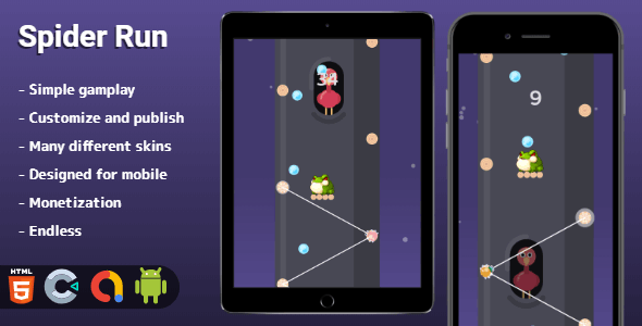 [Free Download] Spider Run – HTML5 game (Construct 3) (Nulled) [Latest Version]