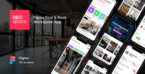[Free Download] RECspace – Figma Find & Book Workspace App (Nulled) [Latest Version]