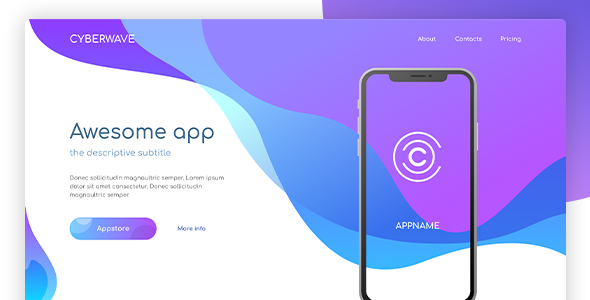 [Free Download] Cyberwave – App Landing Figma Template (Nulled) [Latest Version]
