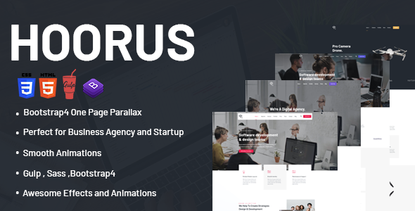 [Free Download] Hoorus – One Page Parallax (Nulled) [Latest Version]