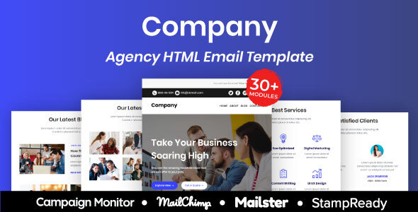 [Free Download] Company – Multipurpose Responsive Email Template 30+ Modules Mailchimp (Nulled) [Latest Version]