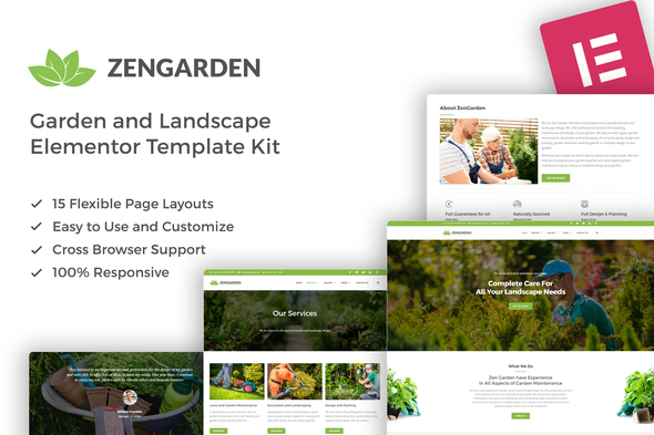 [Free Download] ZenGarden – Garden & Landscape Elementor Template Kit (Nulled) [Latest Version]