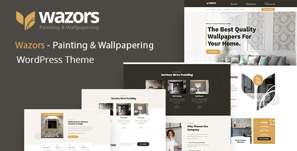 [Free Download] Wazors – Painting & Wallpapering WordPress Theme (Nulled) [Latest Version]