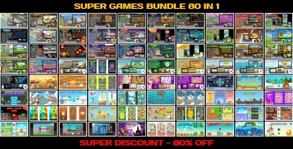 [Free Download] 80 HTML5 GAMES!!! SUPER BUNDLE №4 (Construct 3 | Construct 2 | Capx) (Nulled) [Latest Version]