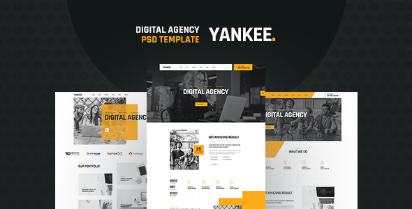 [Free Download] Yankee – Digital Agency PSD Template (Nulled) [Latest Version]