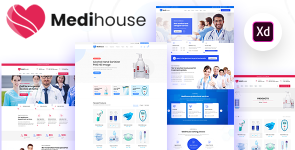 [Free Download] Medihouse – Hospital Medicale Caregiver XD Template (Nulled) [Latest Version]
