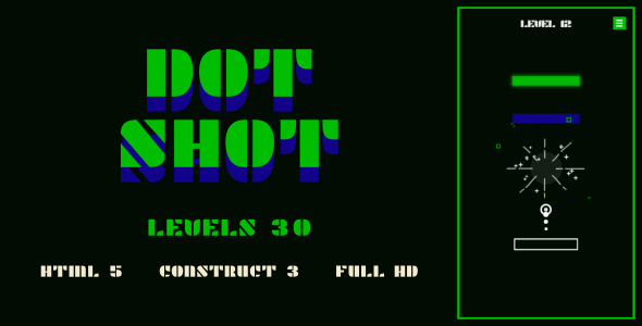 [Free Download] Dot Shot – HTML5 Game (Construct3) (Nulled) [Latest Version]