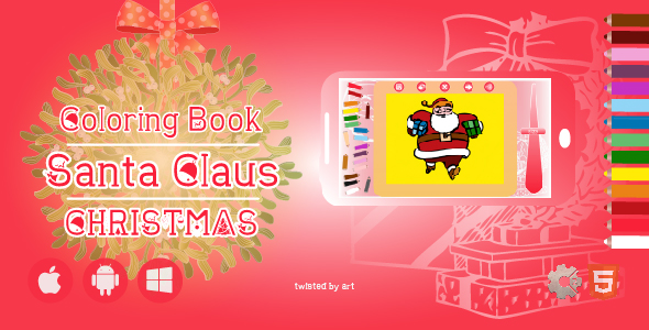 [Free Download] Coloring Book Santa Claus Christmas • HTML5 + Construct Game (Nulled) [Latest Version]