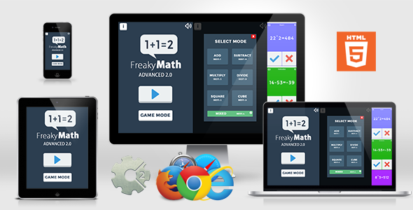 [Free Download] Freaky Math Advanced 2.0 – Educational HTML5 GAme (Nulled) [Latest Version]