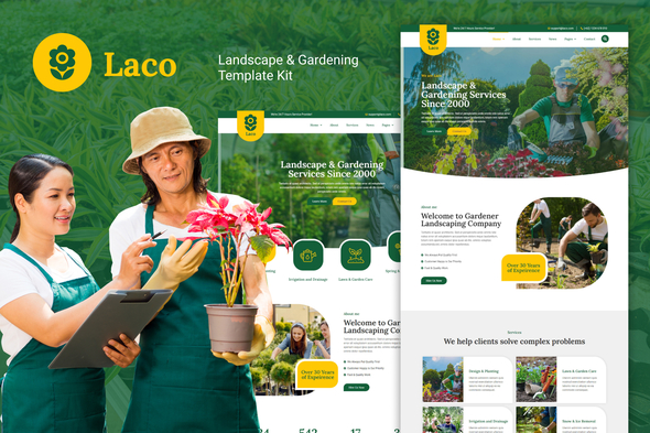 [Free Download] Laco – Landscape & Gardening Elementor Template Kit (Nulled) [Latest Version]