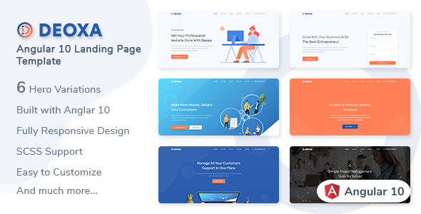 [Free Download] Deoxa – Angular 10 Landing Page Template (Nulled) [Latest Version]